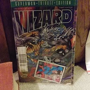 Superman Tribute Edition Wizard comics 1st edition
